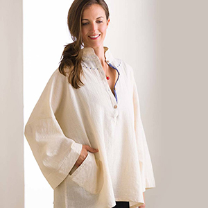 Handmade Unbleached Cotton Peasant Shirt