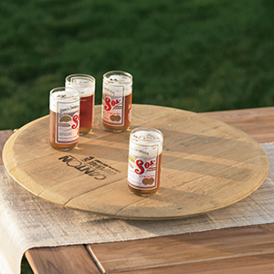 Wine Barrel Lazy Susan