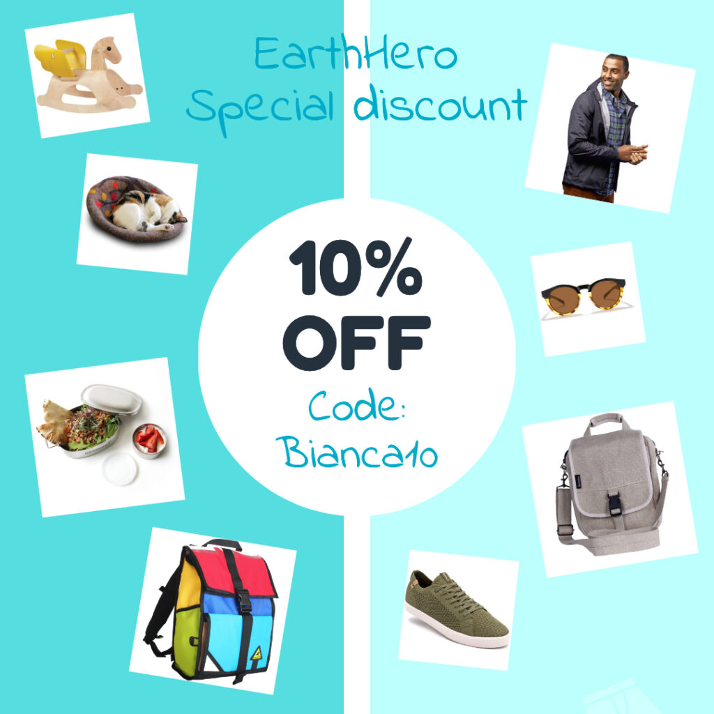 10% off code BIANCA10 for EarthHero